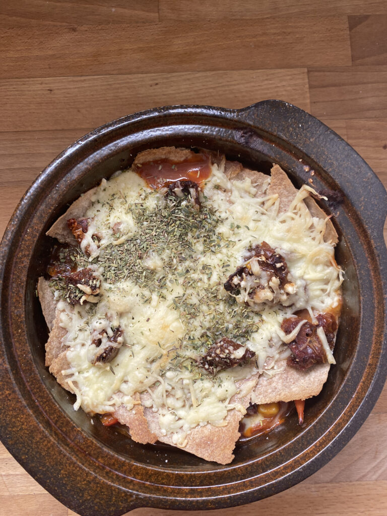 chili sin carne auflauf